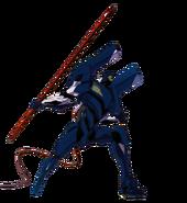 Eva 00 throwing Longinus Spear