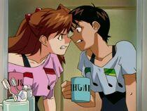 Episodio 9 Shinji y Asuka entrenan