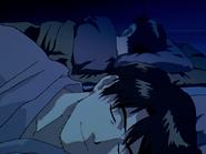 NGE 18 Shinji charla con Ryoji Kaji 02
