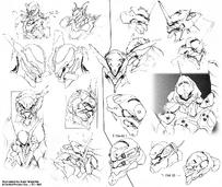 Diseño de la cabeza de los Eva