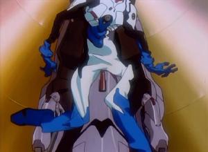Shinji nell'Entry Plug