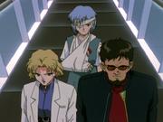 Cap4 Ritsuko Gendo y Rei
