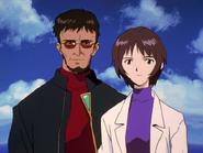 Episodio 26 Proyecto de Complementación Yui y Gendo Ikari