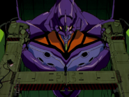 Evangelion Unidad 01 en su jaula