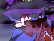Eva 01 devouring S² Engine