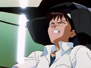 Shinji Ikari pilotando por primera vez 2