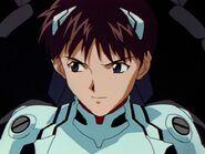 Shinji en el episodio 09
