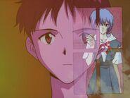 Shinji y Rei en el opening
