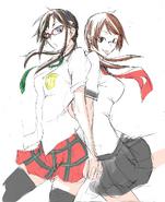 Makinami Mari Illustrious & Isone Kotoha (by Suzuhito Yasuda)