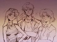 Esbozo de Misato Kaji y Ritsuko