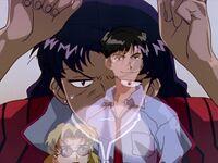 Misato sentimientos de enojo Evangelion 09