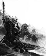 Archaon el Elegido por Karl Kopinski Guerreros del Caos