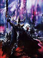 Portada libro de ejército Elfos Oscuros 6ª edición por Geoff Taylor Malekith