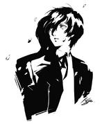 P3M Sketch of Makoto Yuki by Shigenori Soejima 2
