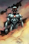 Ultron (Earth-616) and Henry Pym (Earth-616) from Avengers Rage of Ultron Vol 1 1 001