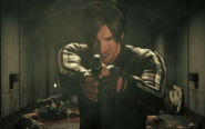Leon shooting at Zombies in Vendetta