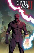 Civil War II Kingpin Vol 1 1 Black Panther 50th Anniversary Variant Textless