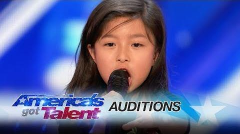 """Celine Tam 9-Year-Old Stuns Crowd with """"My Heart Will Go On"""" - America's Got Talent 2017"""
