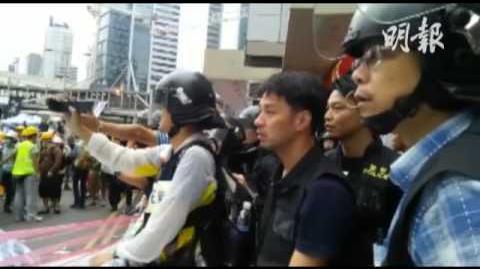 01-12-2014 警大罵天主教示威者「耶撚」 不停粗口問候