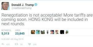 Trump fakehktweet