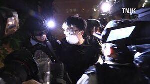 20190713 示威者嘗試跳橋逃避警方追捕其後被救起