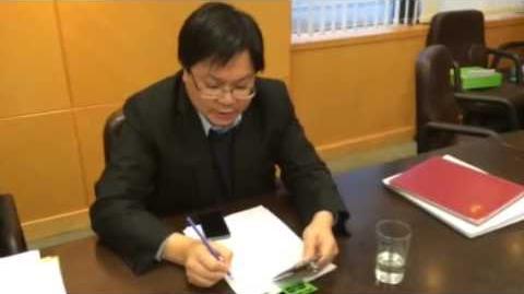 區議會工作小組現場片段 李志恒:「係!我今日決定係閉門!」