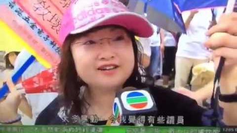 工聯會遊行姐:「反中央、撐張融」