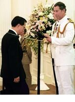 Sir Donald Tsang knighted