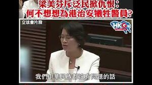 梁美芬斥泛民掀仇恨:何不想想为香港牺牲的警员