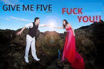 Give me five hundred Fxxk you