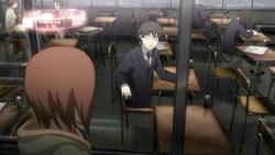 Episode 01 Rikuo discovering Aki's truth