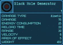 Black Hole Generator Details