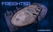Freighter splash