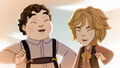 Thronecoming - Grimm Brothers laugh together.jpg