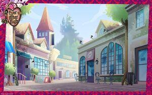 Wallpaper - Village of Book End