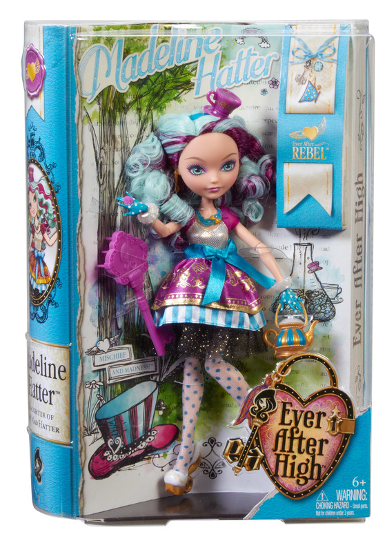EVER AFTER HIGH DOLL ACCESSORIES HAT-TASTIC MADELINE HATTER GOLD NECKLACE ONLY