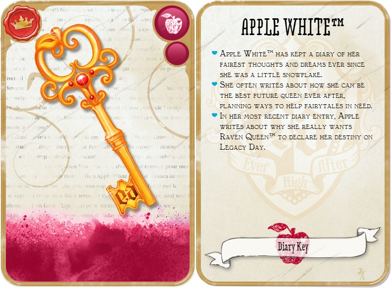 Apple White Diary Key