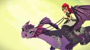 Dragon Games - Mira rides Nevermore