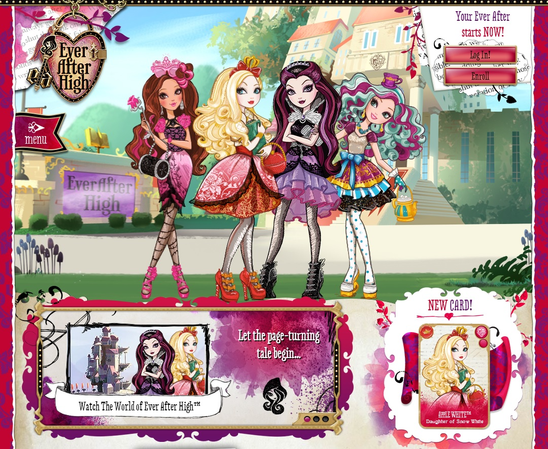 Ever After High Doll 6 Bookmark set Character Story Hunter Raven Madeline Cupid