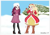 Apple White and Raven Queen (Christmas)