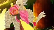Spring Unsprung - Ginger hugs the White Knight