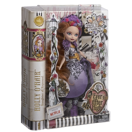EVER AFTER HIGH 1ST ORIGINAL HOLLY O/'HAIR DOLL REPLACEMENT GOLD FLORAL SHOES