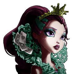 Porta-retrato de la muñeca de Raven Queen incluido en la caja de la muñeca de la Comic-Con.