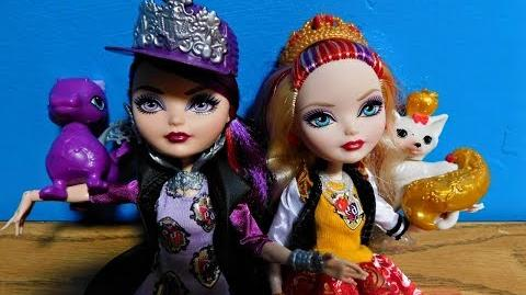 Ever After High School Spirit Dolls & 5 Pet Bobbleheads Raven Queen Apple White Unboxing Toy Review
