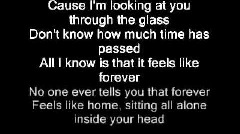 Im looking at you through the glass