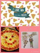 I love you more than pizza! Clovier