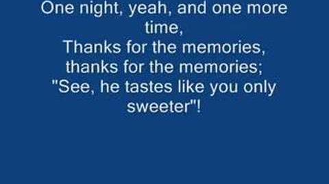 Fall Out Boy - Thanks For The Memories (rolling lyrics playback)
