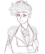 Sad rose boy.