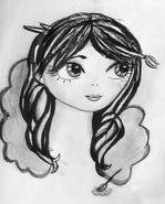 Meghan BW portret