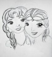 Parvati & Rawiya szkic